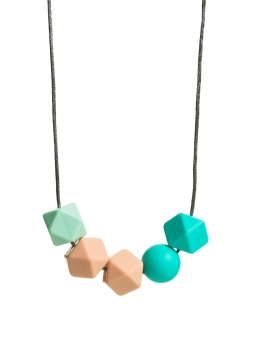 Nursing Necklace (pearl mint-peach-turquoise)