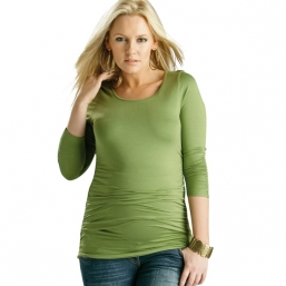 Maternity Ruched Top (green)