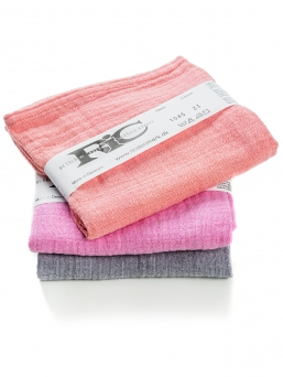 RIC Cotton gauzes 3-pack (pink-grey)