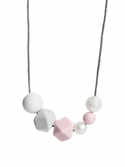 Nursing Necklace (pearl white-lightgrey-rosa)
