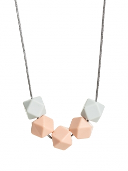 Nursing Necklace (lightgrey-peach)