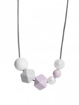 Nursing Necklace (pearl white-lightgrey-lightpurple)