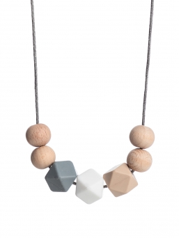 Nursing Necklace (nature grey-white-beige)