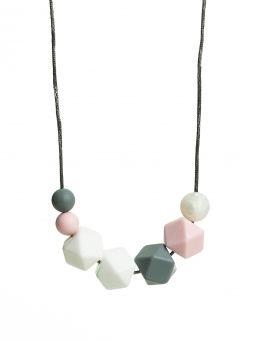 Nursing Necklace (pearl white-grey-rosa)