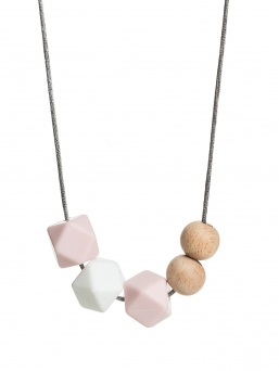 Nursing Necklace (nature rosa-white-rosa)