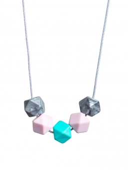 Nursing Necklace (silver-rosa-turquoise)