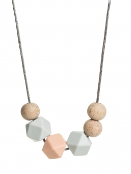 Nursing Necklace (nature lightgrey-peach)