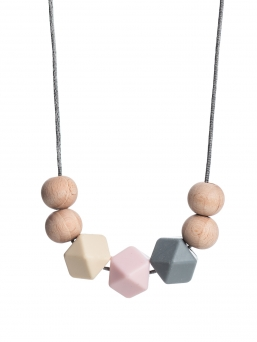 Nursing Necklace (nature ivory-rosa-grey)