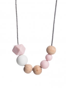 Nursing Necklace (nature rosa-white)