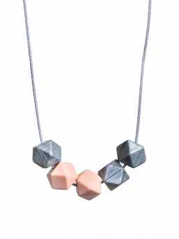 Nursing Necklace (silver-peach)