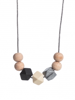 Nursing Necklace (nature black-ivory-silver)