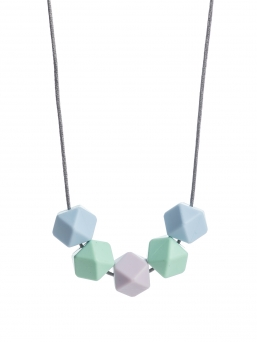 Nursing Necklace (lightblue-mint-lila)