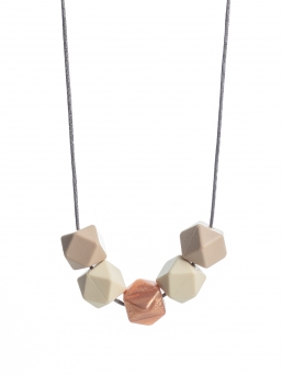 Nursing Necklace (beige-ivory-rosegold)