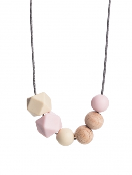 Nursing Necklace (nature ivory-rosa)
