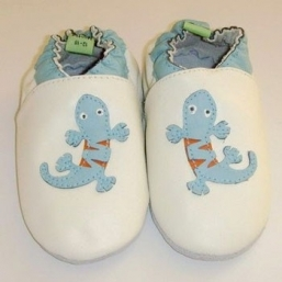 Lizard Soft Leather Baby Shoes - RASKAUSKEIJU