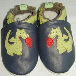 Dragon Soft Leather Baby Shoes - RASKAUSKEIJU