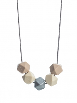 Nursing Necklace (beige-ivory-silver)