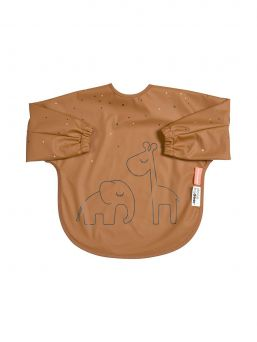 Longsleeve bib from Done by Deer PVC-free coated polyester - durable and practical material.