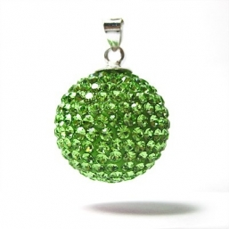 BOLA - crystal 18mm (lime green)