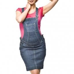 Maternity Bib Overall denim Skirt