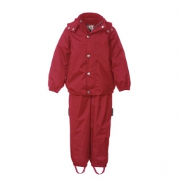 Plain rain set with fleece RED - TICKET TO HEAVEN