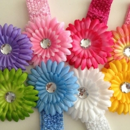 Baby Crochet Headbands (big flower)