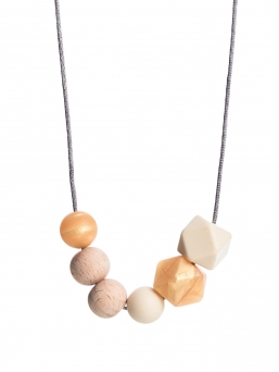 Nursing Necklace (nature rosegold-ivory)