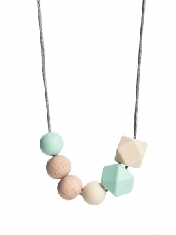 Nursing Necklace (nature mint-ivory)