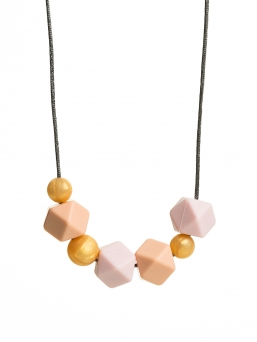 Nursing Necklace (pearl gold-peach-rosa)
