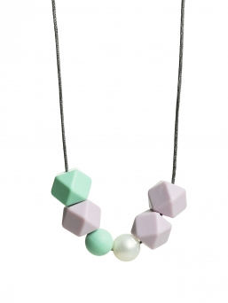 Nursing Necklace (pearl mint-lightpurple-nacre)