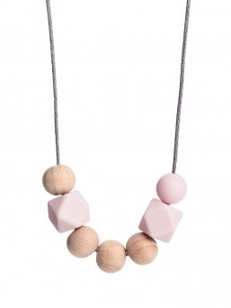 Nursing Necklace (nature rosa)