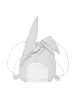 Cute Fabelab bag with lovely ears. Perfect for kindergarten or for gymnastic class.  This cute bag is great for when child is going to stay overnight or for kindergarten clothing. You can also pack your backpack for lunch. The bag is designed to be used whenever you want.