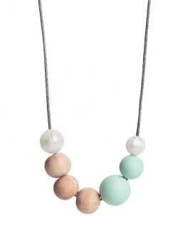Nursing Necklace (nature pearl-mint)
