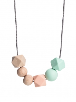 Nursing Necklace (nature beige-peach-mint)