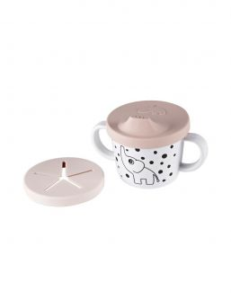 Done by Deer practical two handled cup including two silicone lids perfect for drinks and snacks.