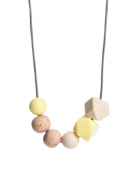 Nursing Necklace (nature pale yellow-ivory)