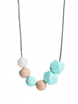 Nursing Necklace (nature pearl-bluemint)