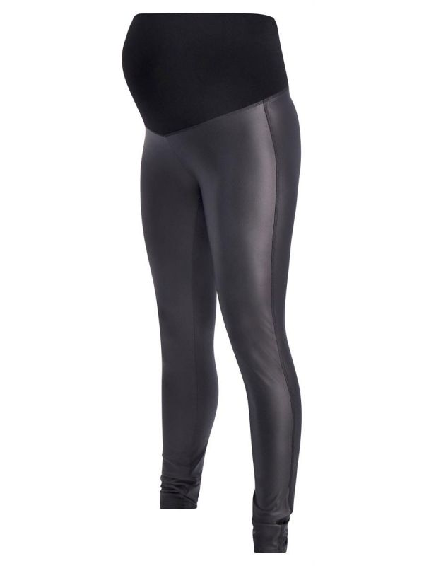 Maternity leggings Shine by Supermom are made of faux leather and come in a form fitting style.