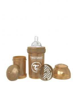 Twistshake Pearl Copper  baby bottle is perfect to use in combination with regular breastfeeding. Every Twistshake contains a practical container as well as a mixing net.