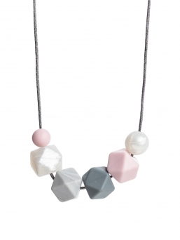 Nursing Necklace (pearl rosa-pearl-marble)