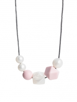 Nursing Necklace (pearl pearl-rosa)
