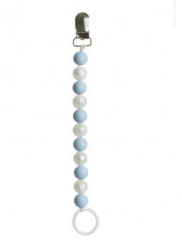 Pacifier holder (babyblue-pearl)