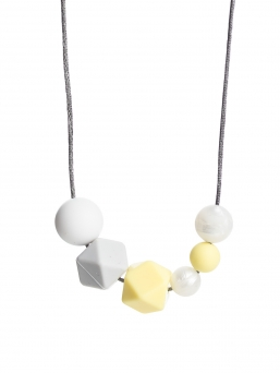 Nursing Necklace (pearl white-lightgrey-paleyellow)