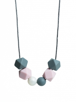 Nursing Necklace (pearl grey-rosa-nacre)