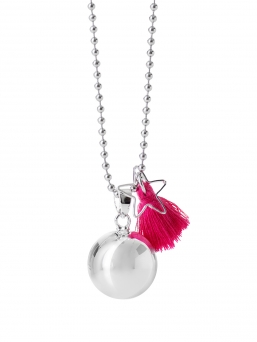 BOLA - harmony bola 18mm with tassel (magenta)