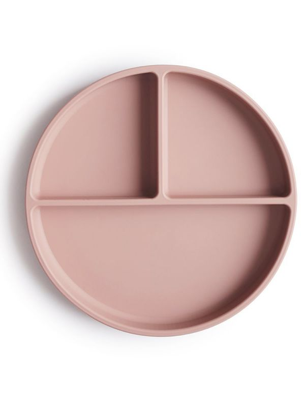Mushie Silicone Suction Plate, blush