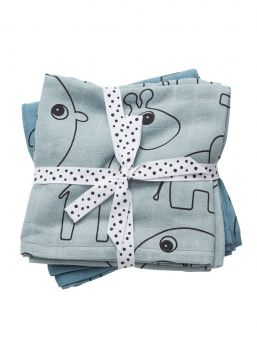 Done by Deer cotton Burp cloth in lovely animal designs. Simply beautiful Burp cloth that you never had too much when moving with your baby. Use this large 120x120 cm swaddle instead of a duvet when sleeping.