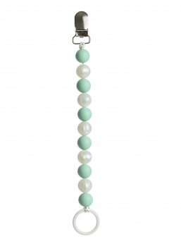 Pacifier holder (mint-pearl)