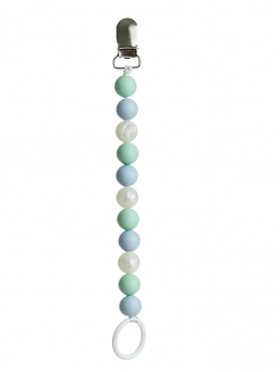 Pacifier holder (mint-babyblue-pearl)