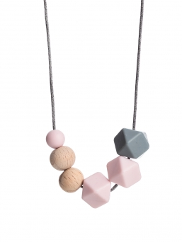 Nursing Necklace (nature rosa-grey)